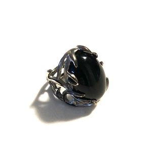 House of Harlow Black Stone Statement Ring